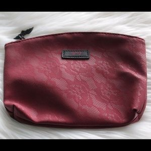 NWOT Ipsy Cosmetics Bag Dark Red Lace